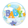baby boy blue bubble balloon