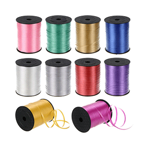 balloon ribbons in all colours
