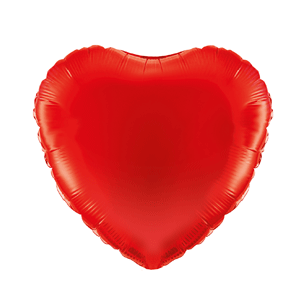 big heart shaped foil balloon