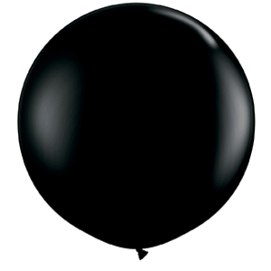 large 3ft black balloon giant