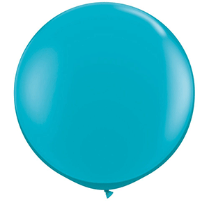 teal large giant balloon