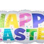 happy easter banner balloon decoration