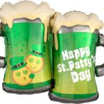 st patty's emoticon balloons