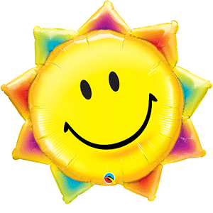 smiley sun shaped balloon