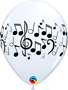 Musical Notes Balloon Latex Biodegradable