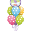 baby shower polka dots helium filled balloon