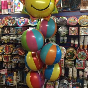 Beach Ball Balloon Arrangement