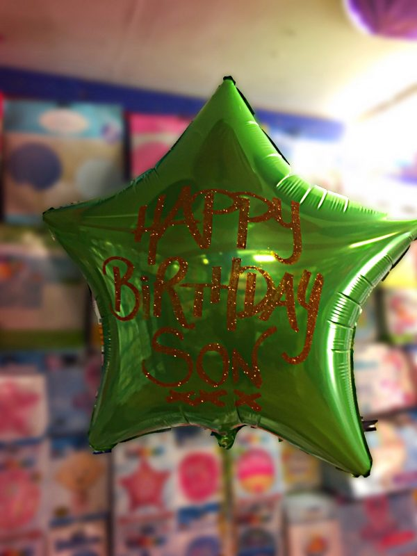 personalised foil balloon