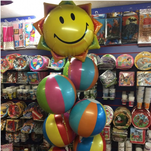 summer balloon arrangement