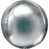 silver orb shaped balloon