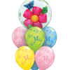 flowers and butterflies Balloon Bouquet
