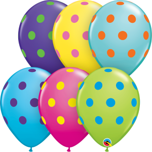 polka dots balloons biodegradable