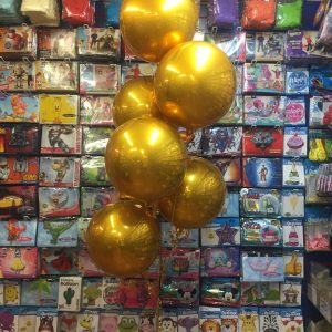 Gold Orb Balloon Tree