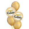 chrome gold and champagne balloons