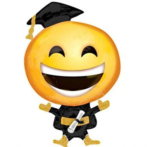 graduation smiely balloon