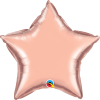 Rose gold balloon star