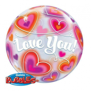 I love you bubble balloon