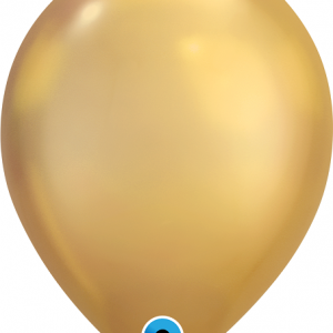shiny gold chrome latex balloons