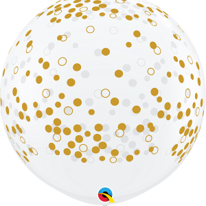 3 ft giant confetti dots balloon