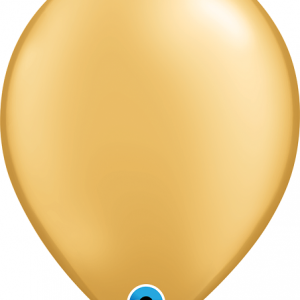 gold latex party balloon