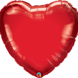 large red heart shaped balloon