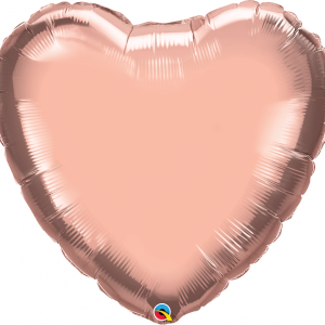 large 36'' rose gold heart shaped balloon