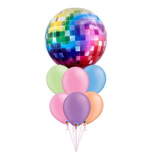 disco neon balloons