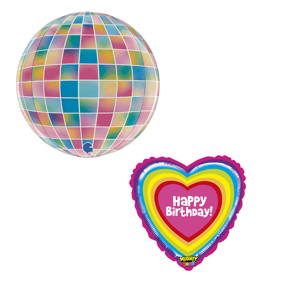 Disco Pastel bright balloons filled