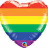 Rainbow Heart Balloon