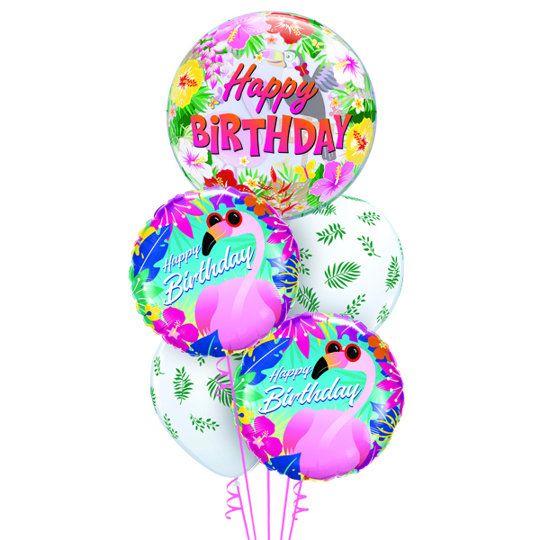 Tropical Flaming Birthday Party Balloons