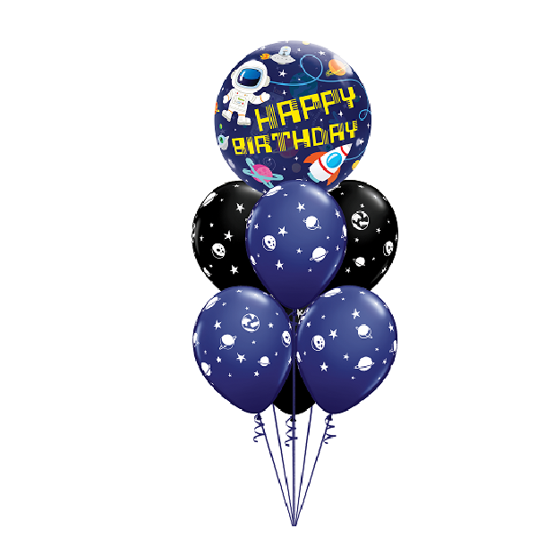 space themed balloon arrangement