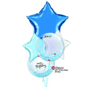 Large Foil balloon and confetti bubble balloons