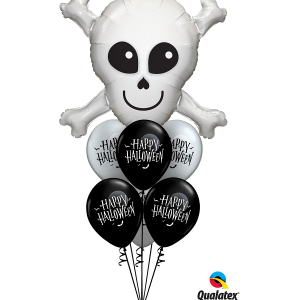 Halloween friendly skull helium bunch