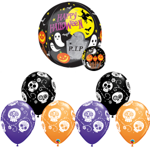 HAPPY HALLOWEEN BUBBLE BALLOONS
