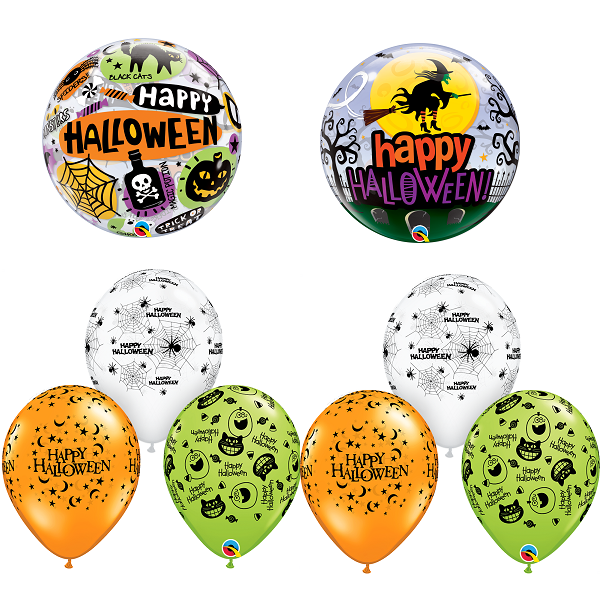Halloween bubble balloons party bunch