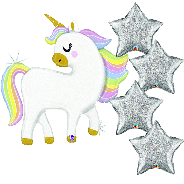 Sparkle and glitter unicorn balloons