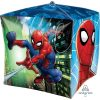 Spiderman cube shaped helium filled balloon