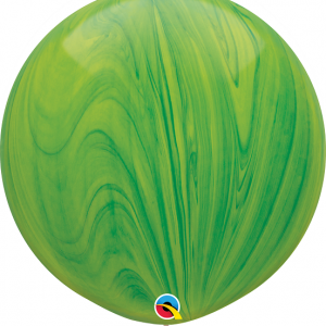 Green Marble superagate balloon