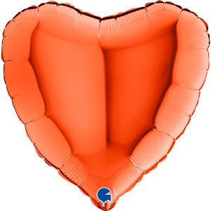 RED FLAME HEART BALLOON