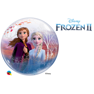 Round Bubble Balloon Frozen Elsa & Anna