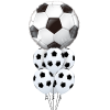 LARGE FOOTBALL FOIL BALLOON BUNCH HELIUM FILLED